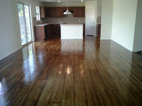 concrete floors stained to look like wood floors floors. Black Bedroom Furniture Sets. Home Design Ideas