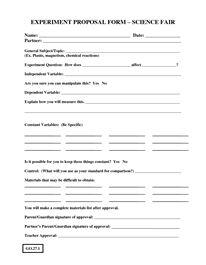 Science proposals