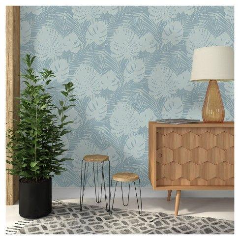Devine Color Tropical Leaves Peel Stick Wallpaper Peel And Stick Wallpaper Tropical Leaves Tropical Wallpaper
