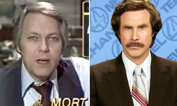 Meet Mort Crim - the inspiration behind Anchorman's Ron Burgundy ......... 'Stay classy, er, Detroit?' Meet Mort Crim - the 1970s Michigan broadcaster and Will Ferrell's inspiration for Anchorman's Ron Burgundy