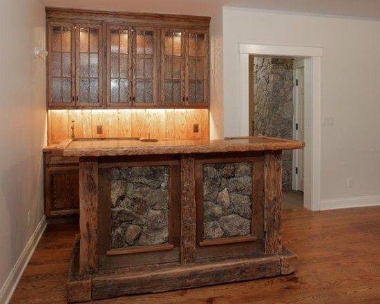 Rustic bars bar designs and bar ideas on pinterest - Rustic basement bar designs ...