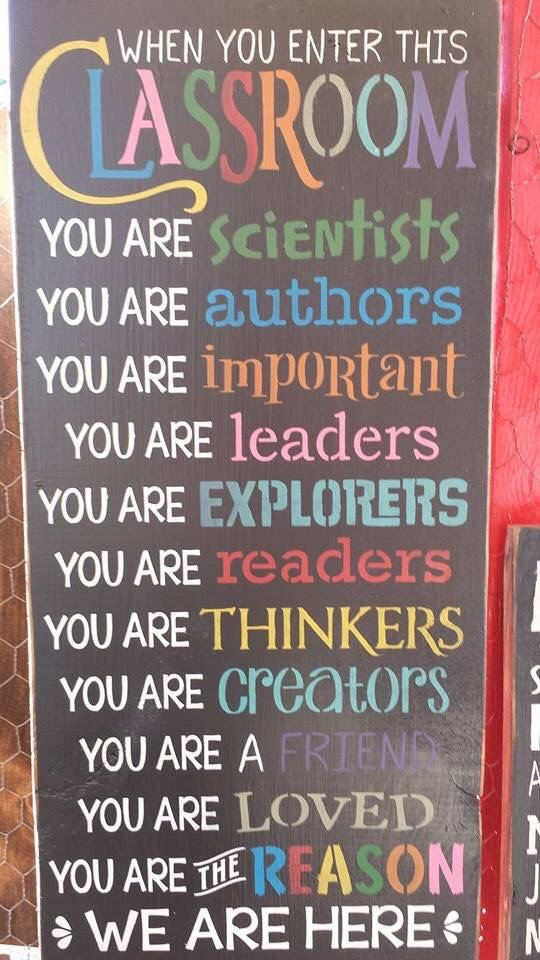 When You Enter This Classroom wood sign by RustyStarSigns on Etsy
