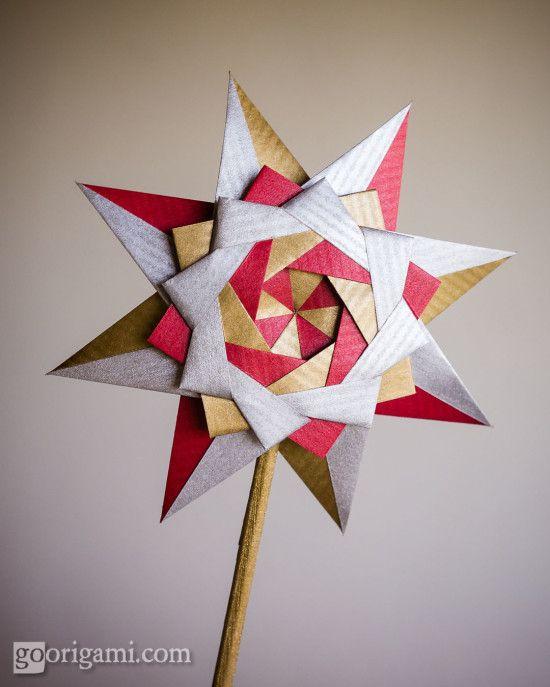 etoile en origami litchi. Black Bedroom Furniture Sets. Home Design Ideas