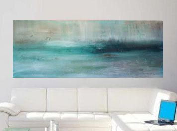 large abstract painting landscape acrylic painting modern art sky ocean seascape warm soft canvas art greece acryclic painting soft