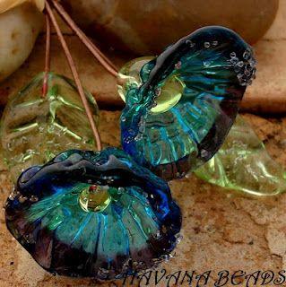 Handmade Lampwork Head Pins.  Havanabeads.etsy.com