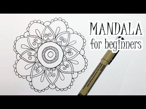 40 How To Draw A Flower Mandala For Beginners Step By Step Easy Youtube Flower Mandala Easy Mandala Drawing Simple Mandala Design