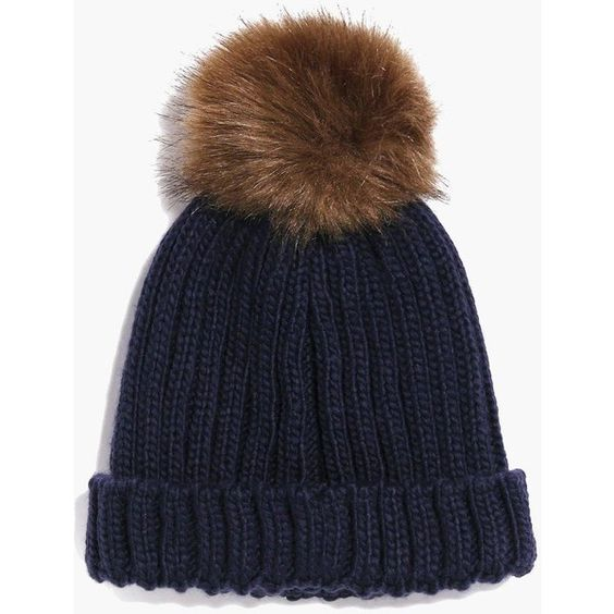 Boohoo Maria Oversize Faux Fur Pom Beanie (18 AUD) ❤ liked on Polyvore featuring accessories, hats, navy, pompom hat, faux fur pom pom hat, pom pom beanie, faux fur hat and pom beanie