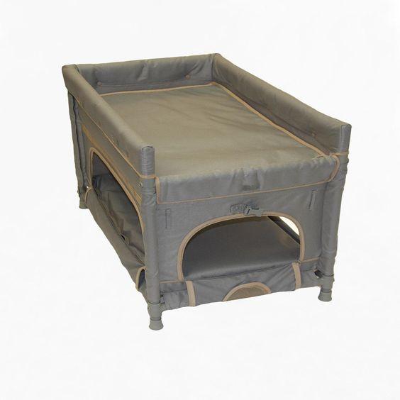 Arm S Reach Co Sleeper Duplex Gray Dog Bunk Bed 172 49