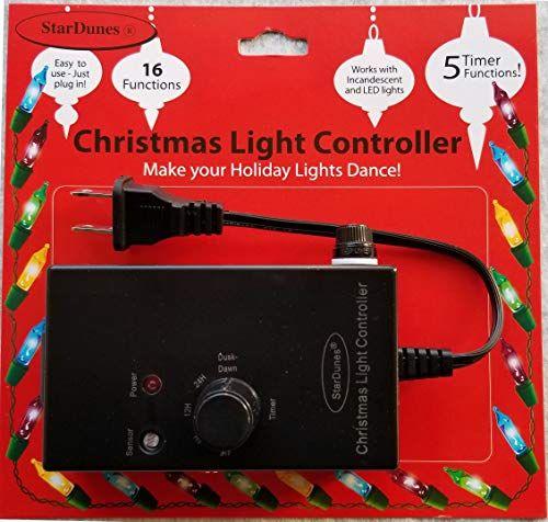 Stardunes Christmas Light Controller 16 Flash Fade Functions 5 Timer Functions Christmas Light Controller Christmas Lights How To Make Light