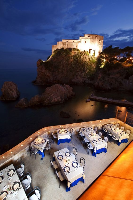 Amazing restaurants on the water in #Dubrovnik, Croatia: