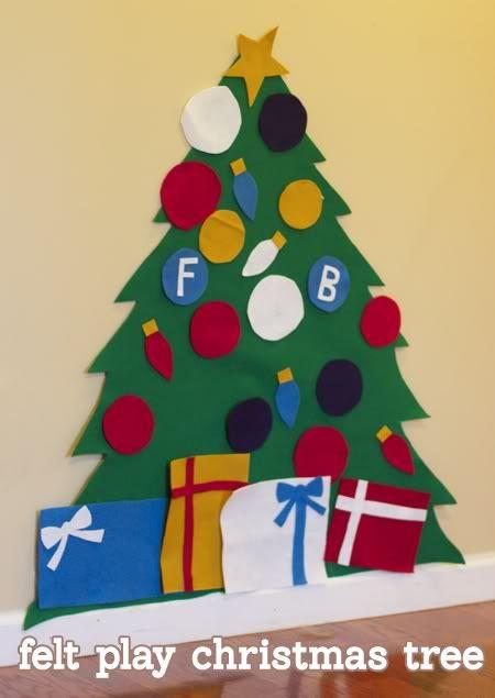 Felt Play Christmas Tree