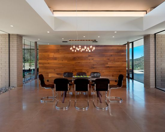 16 Amazing Wood Veneer Wallcovering Ideas Dining Room Interiors Dining Design Wall Coverings
