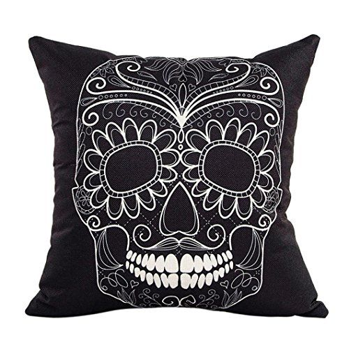 skull head pillow case biggeja pillow