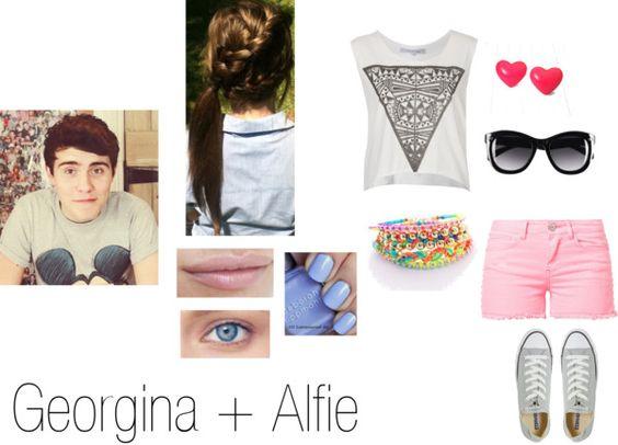 """""""Georgina+Alfie"""" by just4u1d ❤ liked on Polyvore"""