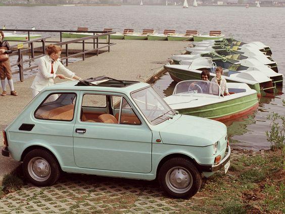 My first car, Fiat 126.