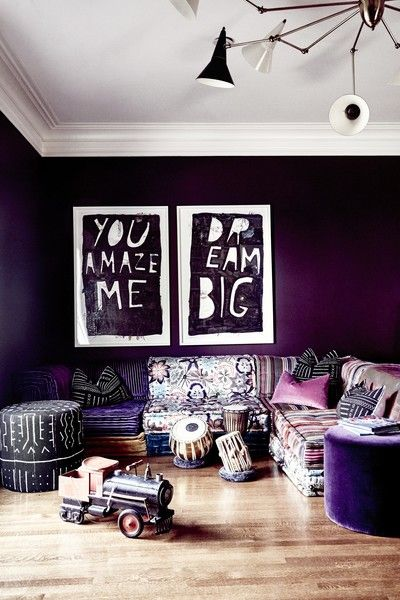 room theme ideas - ultra violet color - room