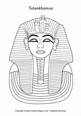 Tutankhamun Colouring Page