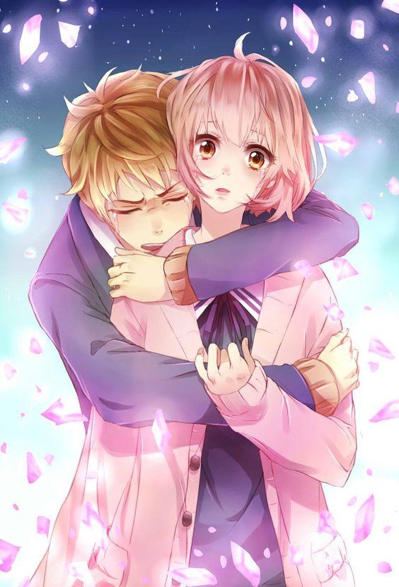 Anime Characters Hugging : Never say goodbye by iluvlollipop ⚤ anime manga