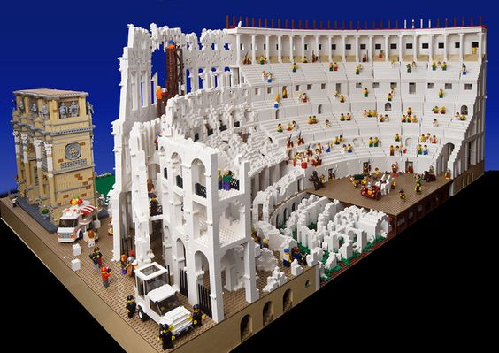 The addition of the Pope Mobile is what really makes this. -- LEGO Colosseum by TheBrickMan, via Flickr.