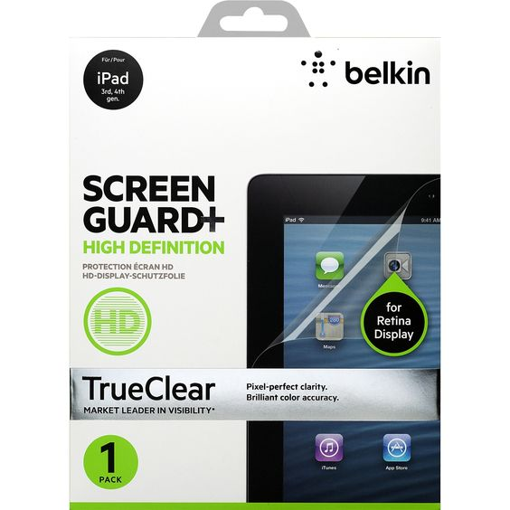 Belkin TrueClear Transparent Screen Protector 2-Pack for iPad Air 2 a