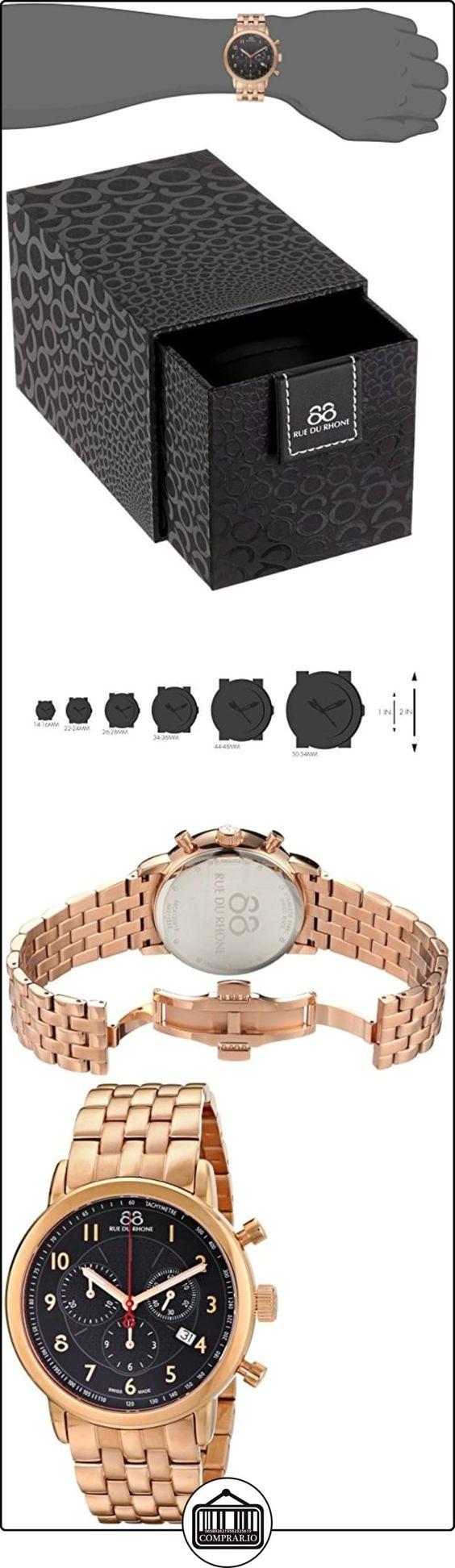 88 Rue Du Rhone Double 8 Origin Mens Rose Gold PVD Chronograph Watch 87WA120049  ✿ Relojes para hombre - (Lujo) ✿