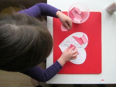 Mosaic Heart - Valentine's Day Craft For Kids - Valentines Craft For Kids