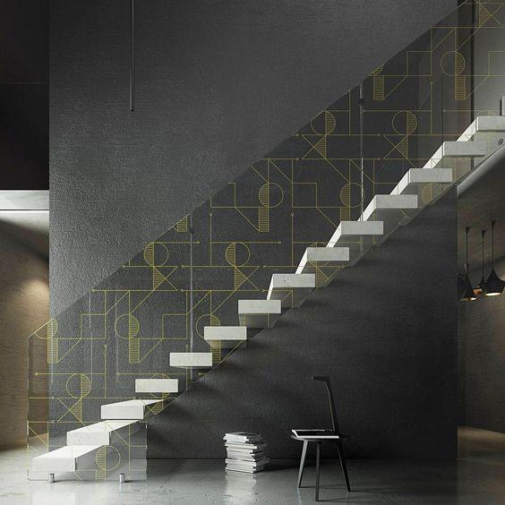 Baranda de escalera de vidrio decorado para escaleras teorema by ...