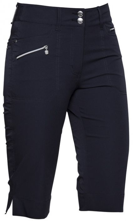 "Miracle Daily Sports Ladies 24"" Outseam Knee Length Navy Golf Shorts at #lorisgolfshoppe"
