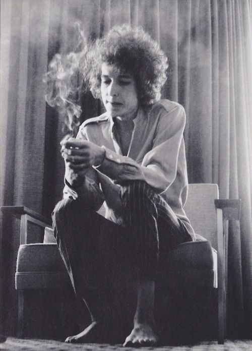 Bob Dylan at Forest Hills, 1965. Source…