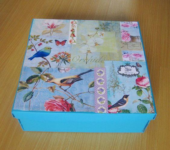Como pintar una caja de madera estilo vintage buscar con - Manualidades con cajas de madera ...