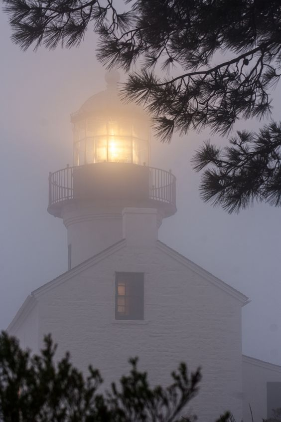 The Old Point Loma Lighthouse in the fog by Kevin Key, via 500px