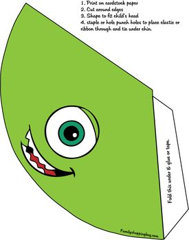 Party Hat, Monsters Inc, Party Hats - Free Printable Ideas from ...