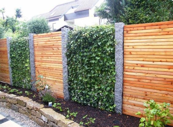 25 Most Inspiring Redwood Fence Designs Ideas To Style Up Your Yard There Is No Doubt That A Fence Is A Must Install Fence Design Garden Fence Garden Design