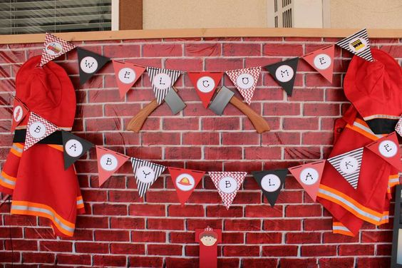 firefighter baby shower party ideas baby shower parties firefighter