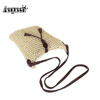 2016 Fashion Woven Bag Straw Women's Crossbody Burlap Jute Bags Small Travel Bag
