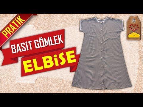 Basit Gomlek Elbise Nasil Dikilir How Do The Simple Shirt Dress Handle Dikis Hocam Youtube Gomlek Elbise The Dress Gomlek