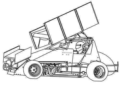 Dirt Sprint Car Coloring Page Sketch Coloring Page 33956 Cars Coloring Pages Sprint Cars Automotive Artwork