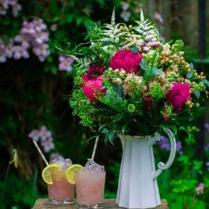 The most gorgeous and seasonal pick of the day beautifully arranged in this Vintage Style jug.