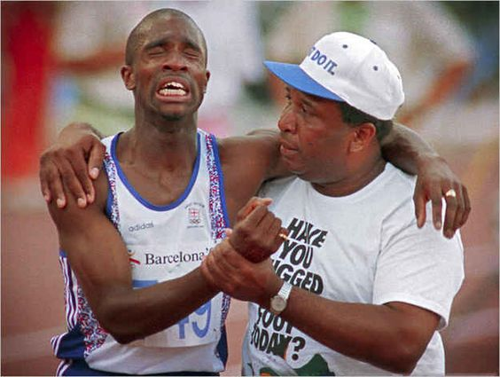 Derek Redmond And His Dad Finish An Olympic Race