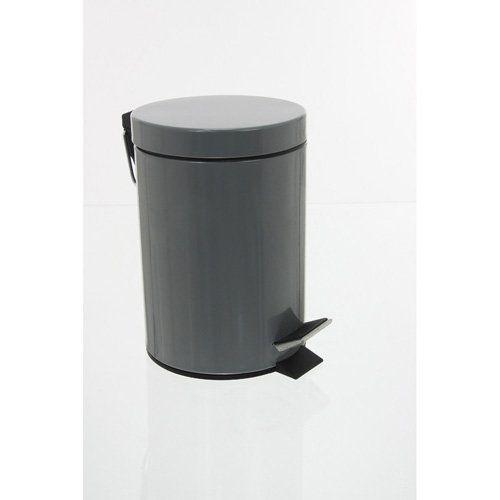 Pattumiera in metallo, colore: grigio