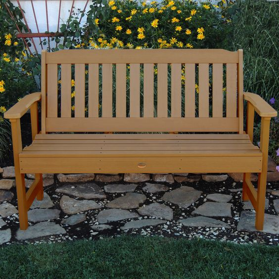 Amelia Wood Garden Bench