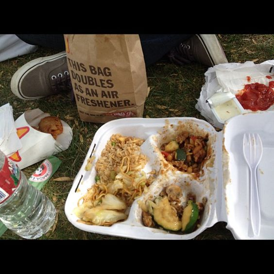 Instagram photo by @collettea10 CSUF picnic with Panda Express and Carl's Jr.
