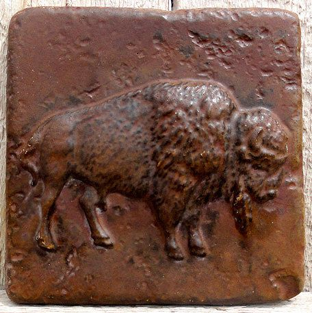 6x6 Accent Tile  Bison / Buffalo  More colors by GrandSpaces, $10.00