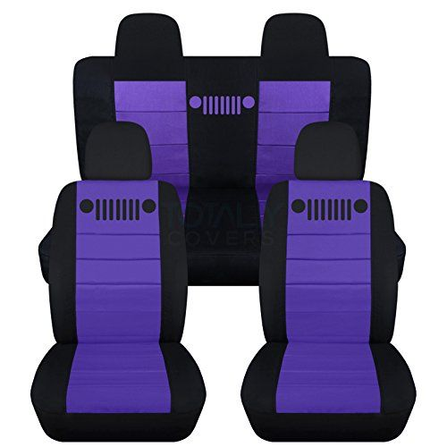 Designcovers 2007 2017 Jeep Compass Patriot Seat Covers Black
