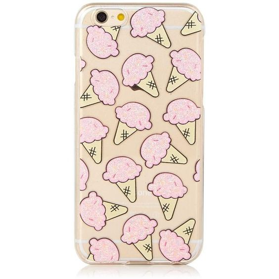 iPhone 6/6S Glitter Ice Cream Case ($27) ❤ liked on Polyvore featuring accessories, tech accessories, phone cases, iphone cover case, glitter iphone case, apple iphone cases and iphone cases
