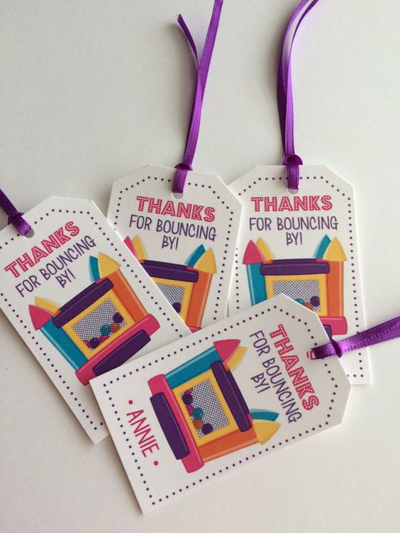 Gymnastic party themed birthday Favor Tags. Personalize with the birthdays girls…