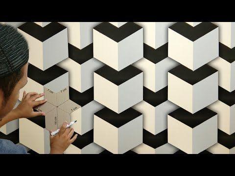3d Wall Painting Designs Ideas How To Make 3d Wall Decoration Cat Dinding Kamar Kreatif 3d Youtube 3d Wall Painting Wall Painting Wall Paint Designs