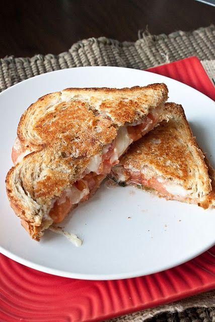 caprese grilled cheese sandwich w/ balsamic basil mayo