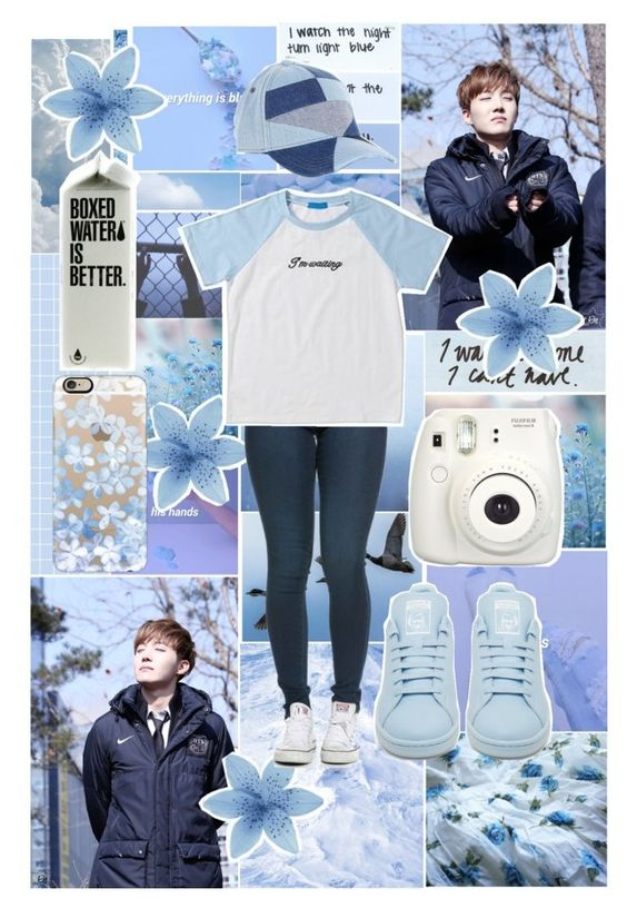 """""""//Hobi Appreciation Day!\\"""" by wonders-of-the-world ❤ liked on Polyvore featuring Love Quotes Scarves, Diesel, adidas, Casetify and HobiAppreciationDay"""