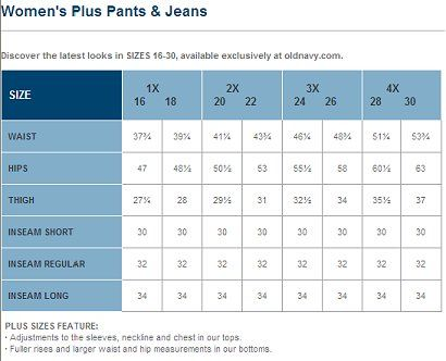 Images of Jeans Size Chart For Women - Fashion Trends and Models